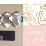 #imadeitmyself  –  Resin slate platters  with White Waterlilly