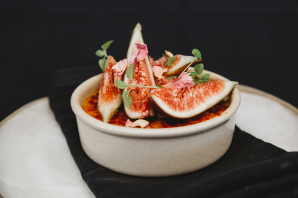 Recipe: Rose Creme Brulee With Fresh Figs
